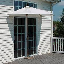 Half Umbrella Patio Shop Blue Brella Half 4 5 Ft Patio