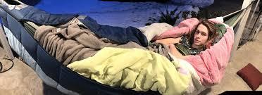 Hammocks For Sleeping Teen Sleeps Outdoors In Hammock For 18 Months