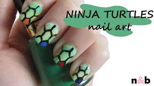 diy nail art tutorial teenage mutant ninja turtles inspired
