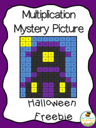free halloween activity multiplication mystery picture tpt