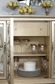 Jessica Mcclintock Dining Room Furniture American Drew Jessica Mcclintock Couture Silver Leaf Server Buffet