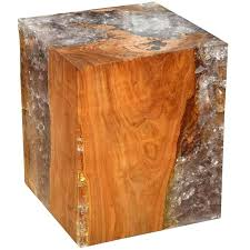 wood cube end table resin and teak wood cube table for sale at wood cube table resin and
