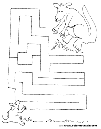 kangaroo activity maze page create a printout or activity