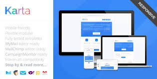 Responsive Mailchimp Templates karta minimalist responsive email template by saputrad themeforest