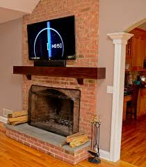 How To Lay Brick Fireplace by Tv Installation On Brick Fireplace In Easton U2013 Wires Run Inside
