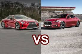 2017 lexus coupes 2017 lexus lc 500 vs 2017 infiniti q60 design youtube