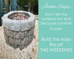 Easy Fire Pits by Easy Do It Yourself Fire Pit You Can Build This Weekend Morris