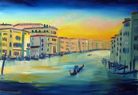 canap de sol pintura al óleo grand canal puesta de sol christian seebauer