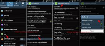how to make your number on android samsung galaxy s4 how to hide caller identification in android