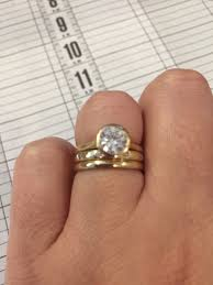 bezel set engagement ring looking for ideas for wedding band with bezel set engagement ring