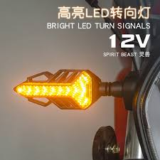 turn signal light assembly led turn signal spirit beast motor highlight 12v signal light