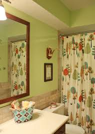 green and white bathroom ideas bathroom cute kids bathroom design with white shower curtains