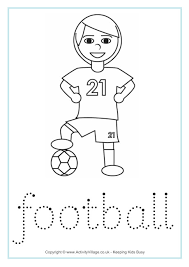 football handwriting worksheet great to help your little