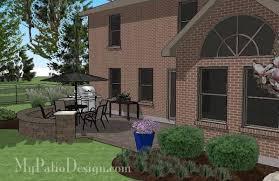 Outdoor Patio Design Diy Outdoor Patio Design With Seat Wall Downloadable Plan