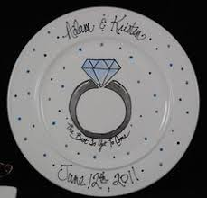 personalized anniversary plates personalized anniversary wedding plate crafts
