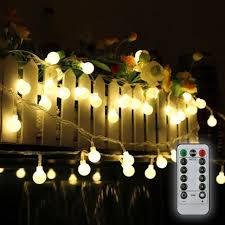 tomshine 32 8ft 80 led battery operated globe string lights outdoor