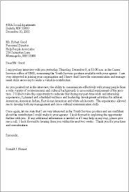 ideas collection how to write a good thank you interview letter on
