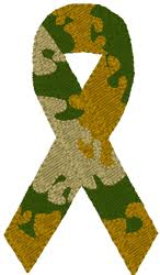 camouflage ribbon awareness ribbon embroidery design