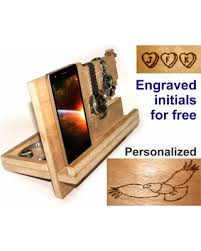 Wood Desk Organizer Don T Miss This Bargain Station Wood Wooden Charging