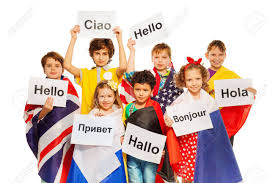 Flags Of Nations Images Kids Wrapped In Flags Of Usa And European Nations Holding