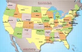 united states of america map with states and capitals states and capitals of the united states labeled map test your