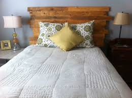 How To Make A Platform Bed With Wood Pallets by How To Make A Queen Size Headboard From A Pallet Youtube