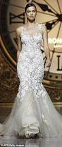 irina shayk dazzles in figure hugging wedding dress on the runway