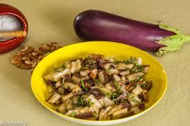 cuisiner des aubergines facile salade d aubergines aux raisins et aux noix kilometre 0 fr