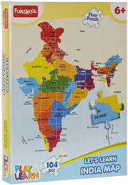 Chennai India Map by Buy Funskool India Map Puzzles Online At Low Prices In India