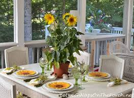 Sunflower Centerpiece Spring Table With Sunflower Centerpiece Sunflower Plates And