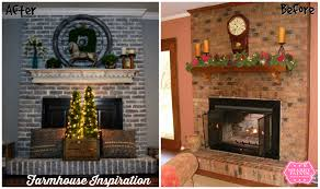 painting fireplace brick before and after home decorating
