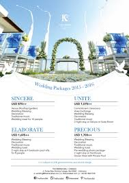 news letter wedding package of the kirana hotels in canggu bali