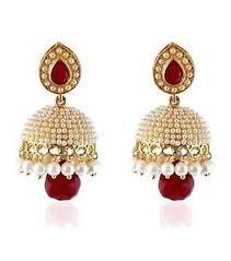 fancy jhumka earrings pearl traditional jewellery stylish fancy jhumka earrings for