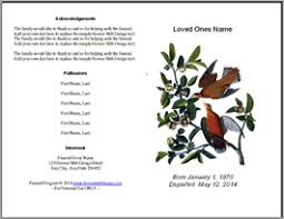 Free Funeral Programs Free Printable Funeral Memorial Program Templates