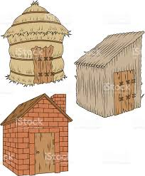 pigs houses stock vector art 148248107 istock