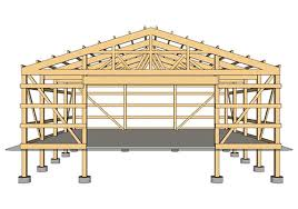 Barn Truss Traditional Post Frame Buildings Farm And Home Structures Llc