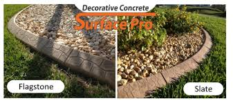 decorative concrete resurfacing and landscape curbing experts