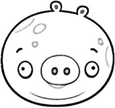 draw angry bird pigs coloring pages bulk color