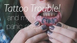 Lip Tattoos On - pr my inner lip gets me in trouble panic attack