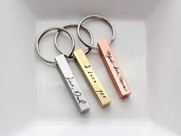 personalized keychain gifts custom handwriting keychain custom engraved key chain