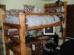 Loft Bed Plans Free Dorm by How To Rise College Loft Bed Glamorous Bedroom Design