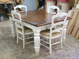 Dining Table White Legs Wooden Top Farm Table Products I Pinterest Timber Dining Table