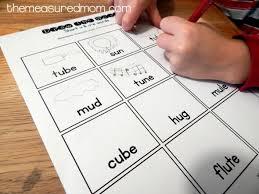 long u silent e worksheets worksheets