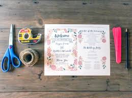 Fan Style Wedding Programs Creative Union U2014 Diy Fan Wedding Program