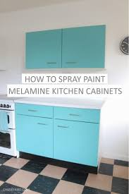 can you paint melamine cabinets diy how to spray paint melamine kitchen cabinets