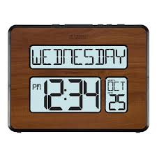 Digital Atomic Desk Clock Amazon Com La Crosse Technology 513 1419bl Wa Int Atomic Large