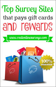 survey for gift card survey that pays gift cards and rewards