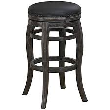 Leather Swivel Bar Stool Newton Brown Faux Leather 30