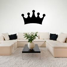 sticker mural chambre couronne simple royal silhouette couronne stickers muraux chambre à