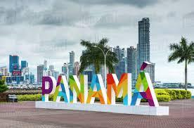 film cinta metropolitan the very colourful panama sign near the monumento balboa area on the